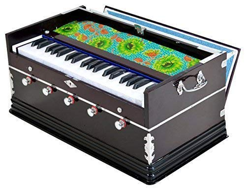 fasherati Harmonium 9 Stopper, 3.5 Octaves, Coupler Function,42 Keys,Two Reed, Bass-Male, Mahagony Colour With Bag,440 Hz Bulk/Wholesale also Available at Discount Price WITH FIBER HARMONIUM CASE