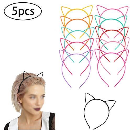 La cabeza del gato niña diadema-mujer Cat Girl Band HeadHair mullido pelo del aro de la venda