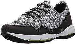 Reebok Womens Cloudride LS Dmx H Running Shoe, Black/White, 6 M US