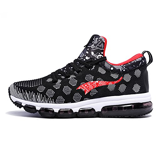 Onemix Mens MidTop Air Cushion Running Shoes Black