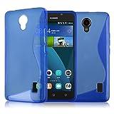 Cover Tpu S-Line Huawei Ascend Y635 Colore Blu