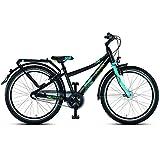Puky 4828 Fahrrad Crusader 24-3 matt schwarz-lagoon blue