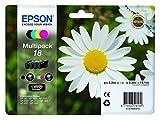 Epson multipack 184couleurs-Cartouche d'encre pour imprimantes (Noir, Cyan, Magenta, Jaune, Epson XP-30/XP-102/XP-202/XP-205/XP-302/XP-305/XP-402/XP-405, Standard Yield, 192x 141,75x 45mm)