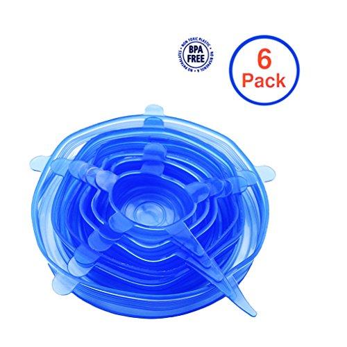 Kuke Silikon Stretch Deckel, wiederverwendbare , Durable Kitchen Gadget, Geschirrspüler und Gefrierschrank sicher, Konserve Lebensmittel