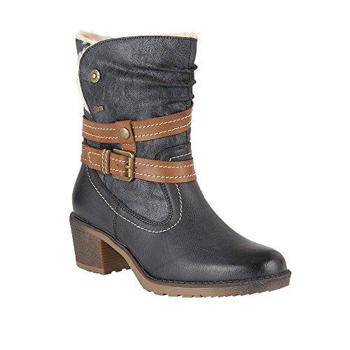 Lotus Relife Mallory Marine Matt & Microfaser-Ankle-boots Marine