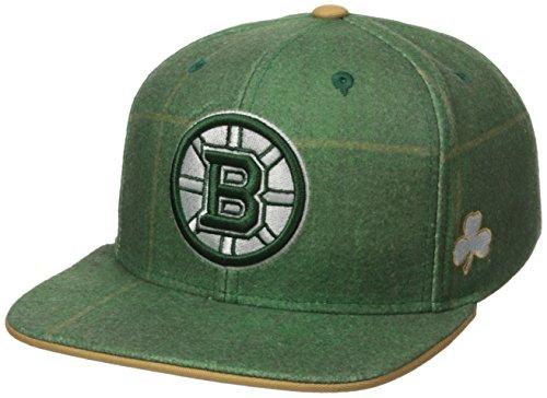 en Mütze St. Patrick's Day Plaid Flache Krempe Snapback, Herren, NHL SP17 St. Patrick's Day Plaid Flat Brim Snapback Hat, grün, Einheitsgröße ()