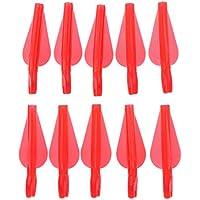 MagiDeal 10 Piezas Nocks de Flechas Combinadas Plástico Tiro con Archero para Eje de Flecha - Rojo