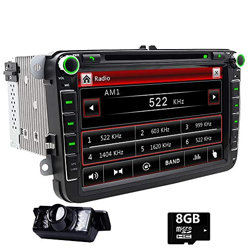 Doppel DIN GPS Auto-Stereo 20,3 cm Touchscreen DVD Player inDash Navigation USB/SD FM AM RDS Autoradio BT Haupteinheit für VW Golf 5 6 Polo Jetta Touran Eos Passat CC Tiguan Sharan Scirocco Caddy