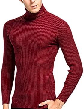 PDFGO Jerseys Para Hombres Cuello De Tortuga Jerseys Prendas De Punto Camisas Con Base Otoño / Invierno Jerseys...