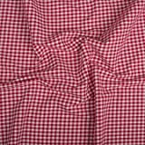 Vichy-Karo Baumwolle 5 mm - Rot-Weiss