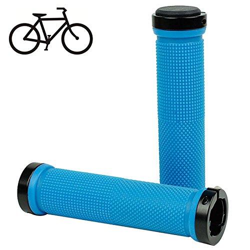 Fahrrad Griffe MTB Fixe BMX Gear Lock-on Grips Gummi Lenkergriff Anti-Rutsch-Griff für maximale Kontrolle in Blau
