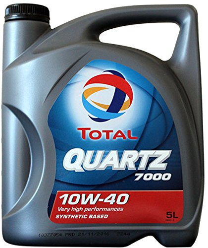 Foto de Total Quartz 7000 10W40 5 litros. Lubricante sintético desarrollado para todo tipo de motores gasolina o diesel de vehículo ligero en todos los tipos de conducción.