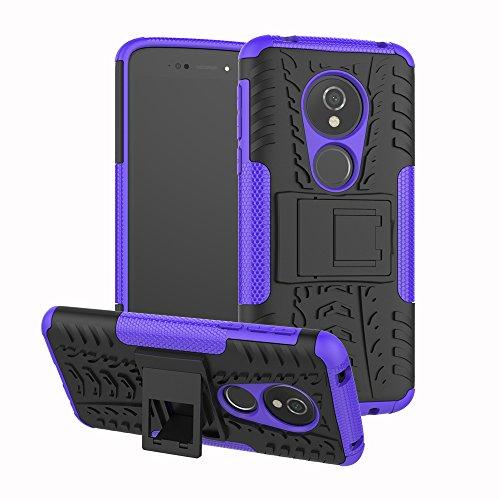 TiHen Cover Motorola Moto E5/G6 Play,Custodia 360 Gradi + Pellicola Vetro temperato [2 Pezzi] Case Cover custodie Cellulare Stilosa Protettiva Bumper per Motorola Moto E5/G6 Play- Porpora