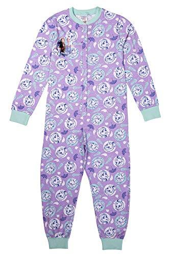 Disney Mädchen Schlafanzug/Einteiler Anna ELSA Olaf, Alter 3 bis 12 Jahre Gr. 4-5 Jahre, violett