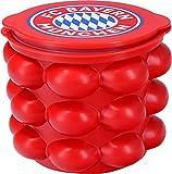 FC Bayern München Eiswürfelbehälter und Flaschenkühler | FCB Silikon XXL Eiswürfelform Für Whisky, Cocktails Und Party Fanartikel Eiswürfelbecher Für Bis zu 24 Eiswürfel [Rot]