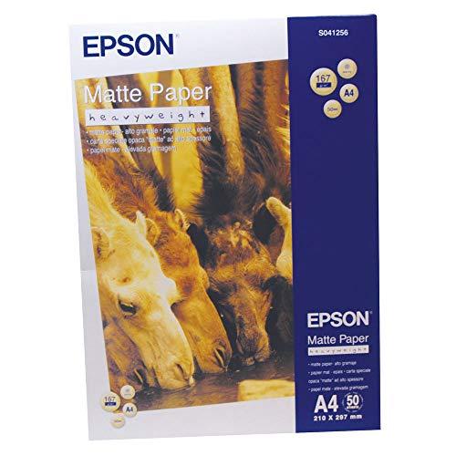 Epson C13S041256 Matte Heavyweight Papier Inkjet 167 g / m2 A4 One-sided, 50 Blatt Pack