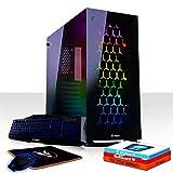 Fierce Bloodbane RGB Gaming PC Bundeln - Schnell 6 x 3.9GHz Hex-Core AMD Ryzen 5 2600, Aftermarket Tower Kühler, 480GB Solid State Drive, 16GB von 2666MHz DDR4 RAM / Speicher, NVIDIA GeForce GTX 1080 Ti 11GB, ASUS PRIME B450M-K Hauptplatine, GameMax Onyx RGB Computergehäuse, HDMI, USB3, Wi - Fi, VR Bereit, 4K Bereit, Perfekt für High-End-Spiele, Windows 10 installiert, Tastatur (QWERTZ), maus, 3 Jahre Garantie 1101245