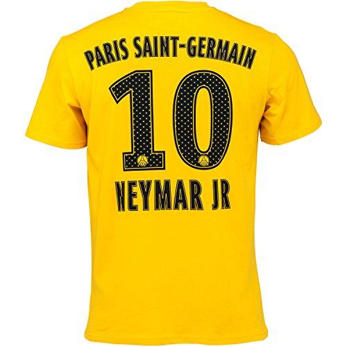 Maglia neymar psg ufficiale uomo adulto t-shirt maglietta paris saint germain gialla