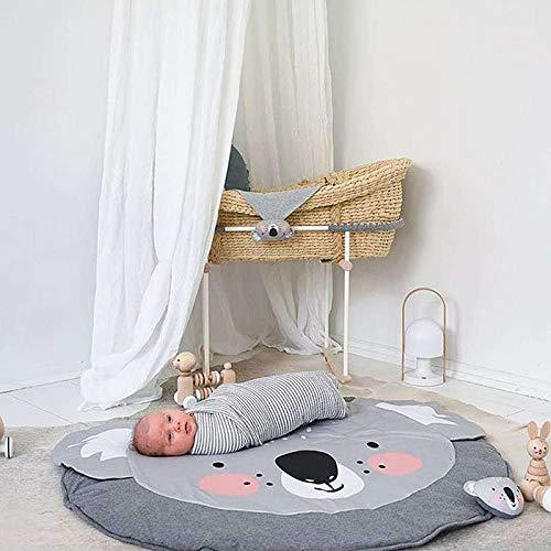 JYCRA Alfombra Redonda de Dibujos Animados Animales, Alfombra de algodón para bebé, Manta de Juego...