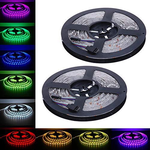 LED Streifen, LED Strips 10m, RGB-Licht mit 5050 600 LEDs, für Decke Bar Counter Cabinet Beleuchtung Dekoration