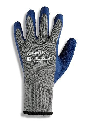 Ansell PowerFlex 80-100 Latexhandschuh, kautschuklatex-Beschichtung, Größe 9 (12 Paar pro Beutel)
