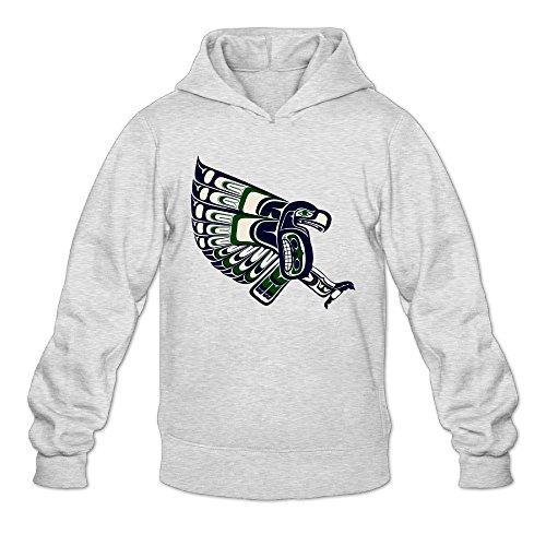 DVPHQ Herren Sweatshirt mit lustigem Seattle Logo Seahawks Ash (Adidas-logo-hut)