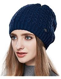 a9bbfb82612 URSFUR Bonnet Tendance Jersey Laine Femme Chapeau Bonnet Tricot Crochet  Torsade Fille Hiver