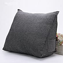 JYSPORT lumbar cojín sofá cama silla de oficina resto Almohadas Algodón Espalda Apoyo lectura almohada Funda extraíble 55 x 45 x 25 cm, 03, 55x45x25cm
