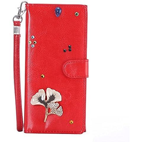 Caseforyou Universo 3D Bling Strass Wristlet raccoglitore della frizione della borsa del telefono di caso di vibrazione della copertura slot per schede con chiusura magnetica e la cordicella per iPhone 6 da 4.7 pollici 5 5S Samsung Galaxy S3