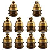 GreenSun 10 Stück Edison E27 Metall Lampenfassung Antique Socket Lampenfuss Retro Vintage Adapter Beleuchtung Sockel für Pendelleuchte Hängelampe Halter DIY J01