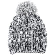 Recién nacido linda moda mantener calientes sombreros de invierno Sombrero  de dobladillo de lana de punto f589c9f9656