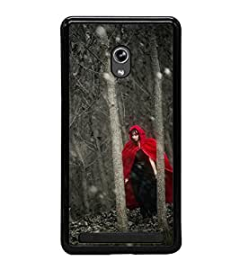 Fuson Premium 2D Back Case Cover Girl in mask With yellow Background Degined For Asus Zenfone 5::Asus Zenfone 5 A500CG