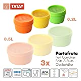 TATAY Lote 3 Tapers Portafruta 0.2L Colores Surtidos