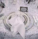 Glas-Platzteller mit silbernem Perlenrand