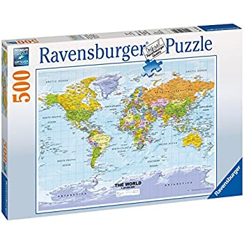 Ravensburger political world map 500pc jigsaw puzzle amazon ravensburger political world map 500pc jigsaw puzzle gumiabroncs Images