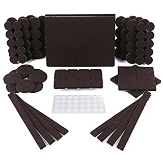 Floor Protectors - 150 Pack Furniture Pads, 118 Felt Pads & 32 Clear Rubber Feet Bumpons. Felt Furniture Pads With Strong Adhesion, 5mm Thick Felt Pads For Furniture For Increased Durability