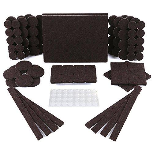 SIMALA Möbelgleiter-Set 150-teilig, 118robuste und selbstklebende Filzgleiter für Möbel-Füße zum Schutz von Hartholz-Böden & 32geräuschdämpfenden klare Gumminoppen
