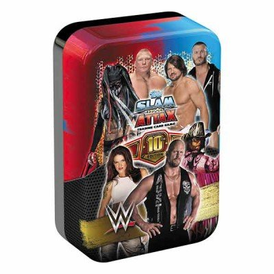 Topps WWE Slam Attax 10 Trading Card Collector Mega Tin