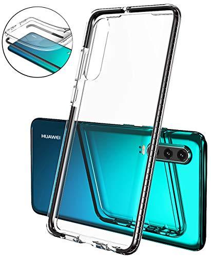 Mobiusphy für Huawei P30 Hülle, Hülle Kompatibel Huawei P30 Handyhülle Schale Extra Cover Slim Schutzhülle Transparent TPU Silikon Case Durchsichtig Stoßfest Anti-Fingerprint Anti-Scratch schwarz