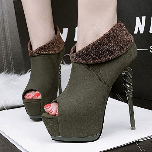 FLYRCX Unione sexy piattaforma impermeabile e ladies' party scarpe personalità di moda tacchi alti C