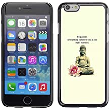 Planetar® ( Buddha Lotus Flower Meditation Quote ) Apple iPhone 6 Plus(5.5 inches)Handyhülle Schale Hart Silikon Hülle Schutzhülle Case