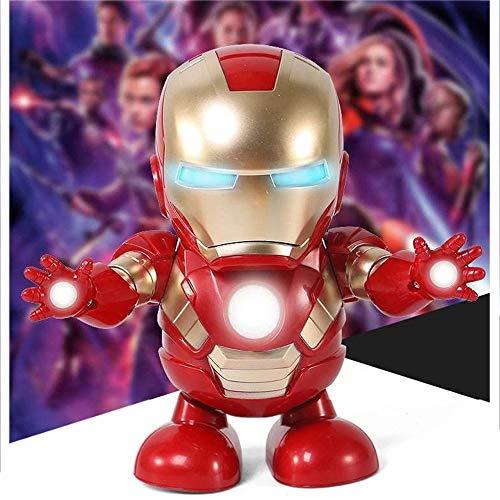 XIOJ Model Toy Dance será un Modelo Animado,un Juguete eléctrico robótico de Capitán América,Adecuado para niños y niños: 7.8 * 4.3 * 4.9 Pulgadas