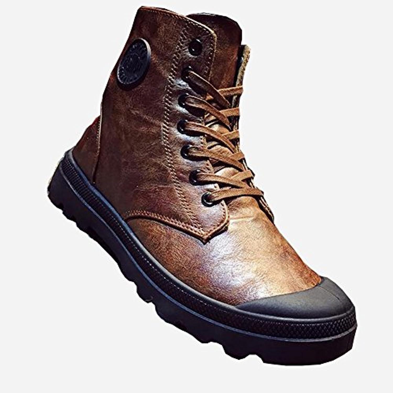 Zapatos YIXINY Deporte Botas Militares Vintage de los Hombres Botas Militares Martin Botas PU Viento Británico