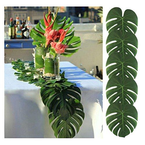 Albeey 12 Stück Tropische Blätter Geburtstag Deko