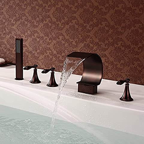 New design 5 holes deck mount Oil rubbed bronze waterfall