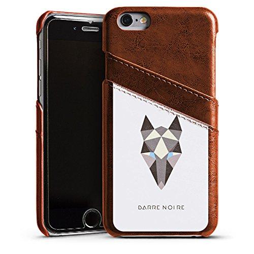 Apple iPhone 5s Housse Étui Protection Coque Renard Motif Motif Étui en cuir marron