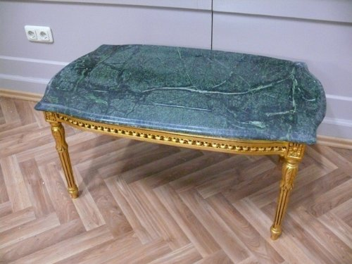 LouisXV Barock Couchtisch Tisch Marmor Antik Stil Rokoko AlSa0315Gn antik Stil Massivholz....