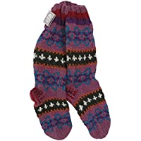 Funky Hand Knitted Winter Joppe Makalu Socken–Lila & Rot preisvergleich bei billige-tabletten.eu