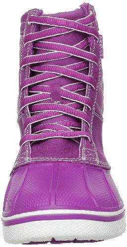crocs AllCast Leather Duck 12802 Damen Chukka Boots Violett (Viola/White)
