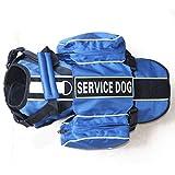 FidgetGear Service Dog Rucksackgeschirr Weste abnehmbare Satteltaschen mit 2 Label-Patches